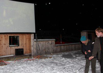 K3 - Kunst und Kultur im Keller Aufbau zur Winter Filmnacht